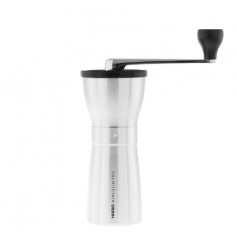 Hario Ceramic Coffee Mill Mini-Slim PRO Silver - Młynek do kawy