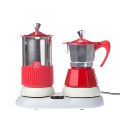 Kawiarka elektryczna ze spieniaczem GAT 4tz - Czerwona