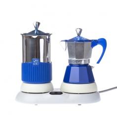 Kawiarka elektryczna ze spieniaczem G.A.T. Gatpuccino 4tz - Niebieska