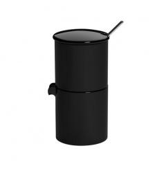 Loveramics Bond - Cukiernica + dzbanek na mleko + łyżeczka - Black