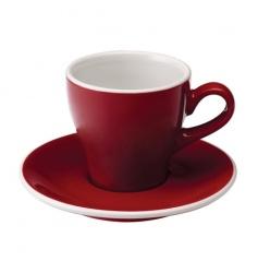 Loveramics Tulip - Filiżanka i spodek Cappuccino 180 ml - Red