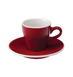 Loveramics Tulip - Filiżanka i spodek Espresso 80 ml - Red