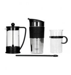 Bodum Coffee Set - French Press + Kubek Termiczny + Szklanka + Łyżka