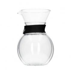 Bodum Pour Over - Zaparzacz do kawy z podwójnymi ściankami - 8 cup - Czarny
