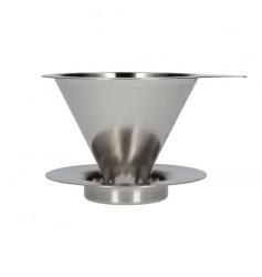 Hario metalowy Drip V60-01 z podstawką