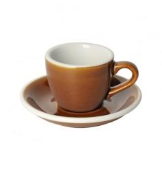 Loveramics Egg - Filiżanka i spodek Espresso 80 ml - Caramel