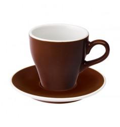 Loveramics Tulip - Filiżanka i spodek Cafe Latte 280 ml - Brown