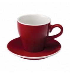 Loveramics Tulip - Filiżanka i spodek Cafe Latte 280 ml - Red