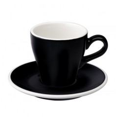 Loveramics Tulip - Filiżanka i spodek Cappuccino 180 ml - Black