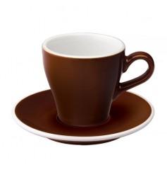 Loveramics Tulip - Filiżanka i spodek Cappuccino 180 ml - Brown
