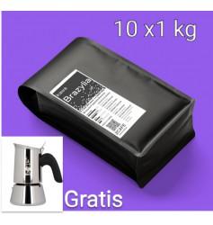 Zestaw Kawa Brazylia 10kg+ kawiarka Bialetti Venus 2tz