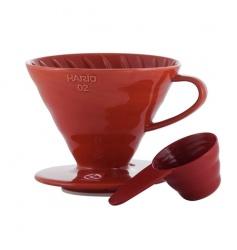 Hario ceramiczny Drip V60-02 Czerwony