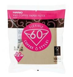 Hario filtry papierowe Misarashi brązowe - V60-02 - 100 Sztuk
