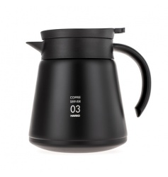 Hario Insulated Stainless Steel Server V60-03 Czarny - 800ml